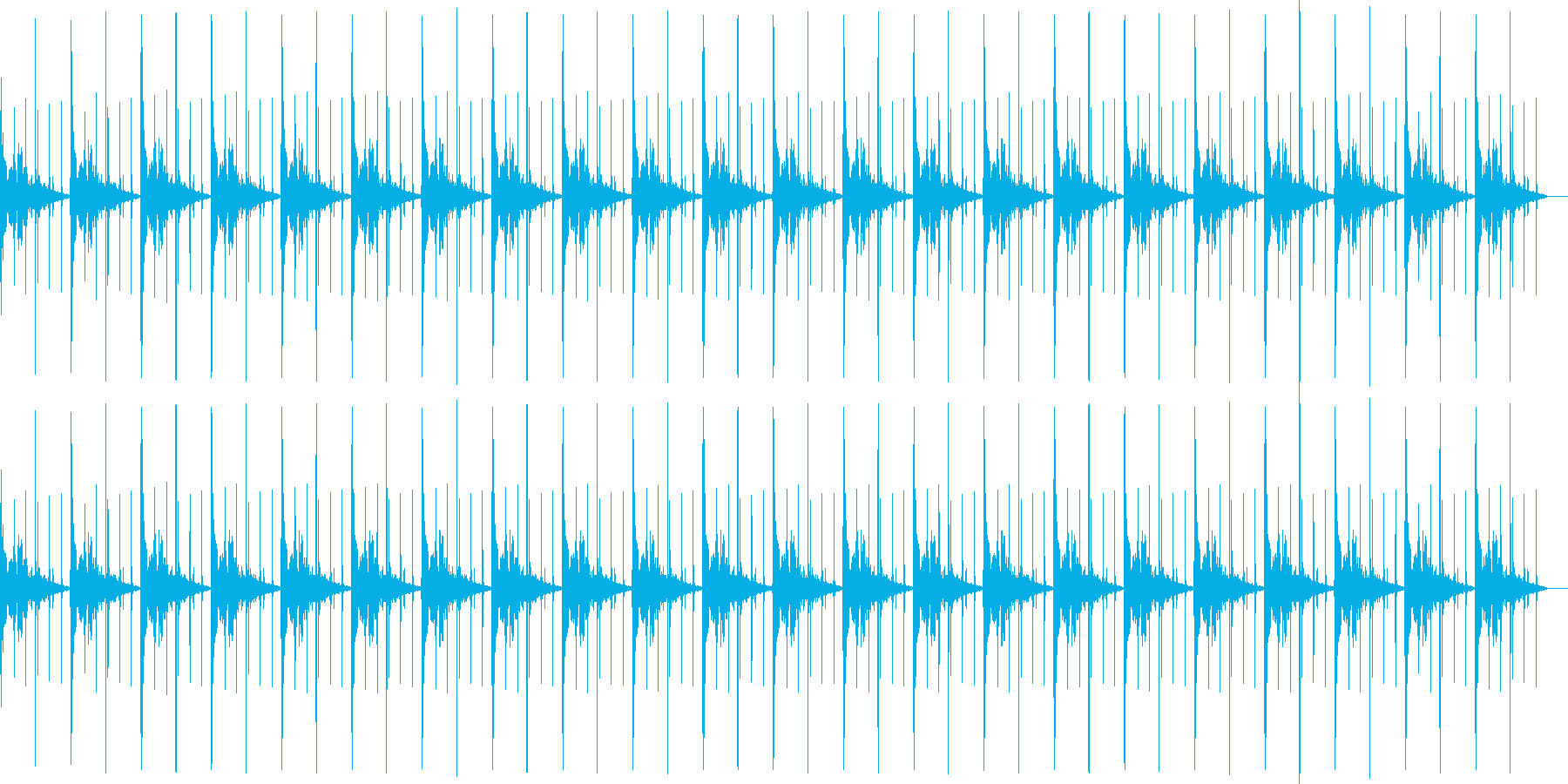 シンキングタイム(ボン、パーン)の再生済みの波形