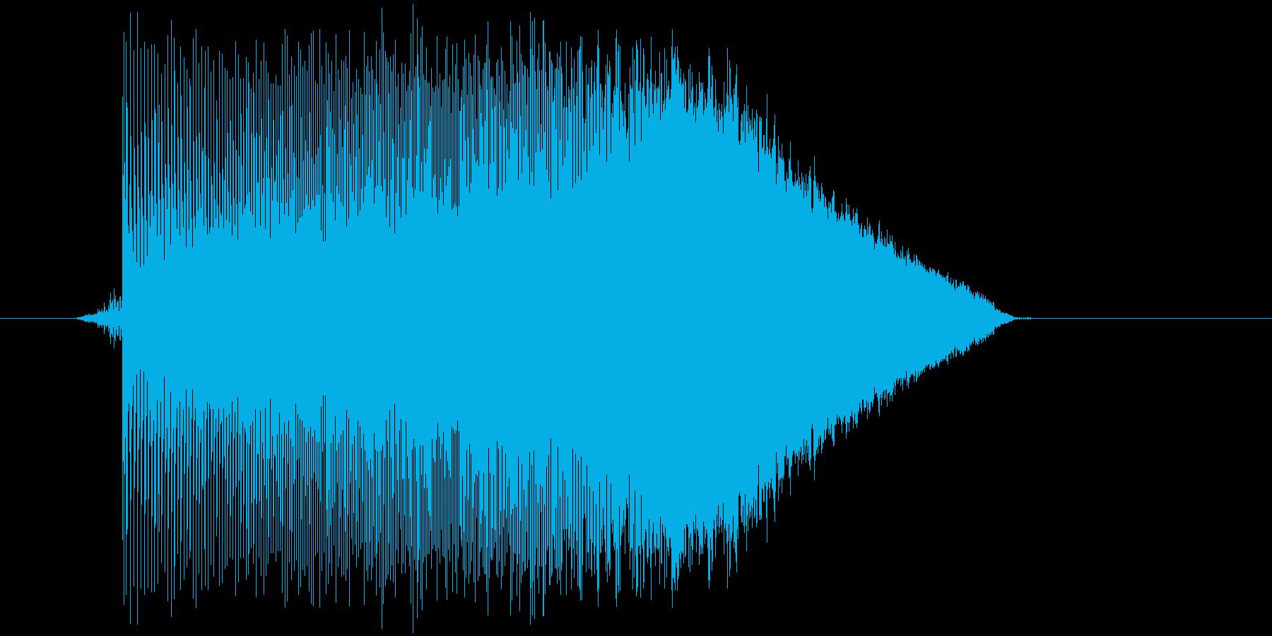 ゲーム(ファミコン風)ジャンプ音_026の再生済みの波形