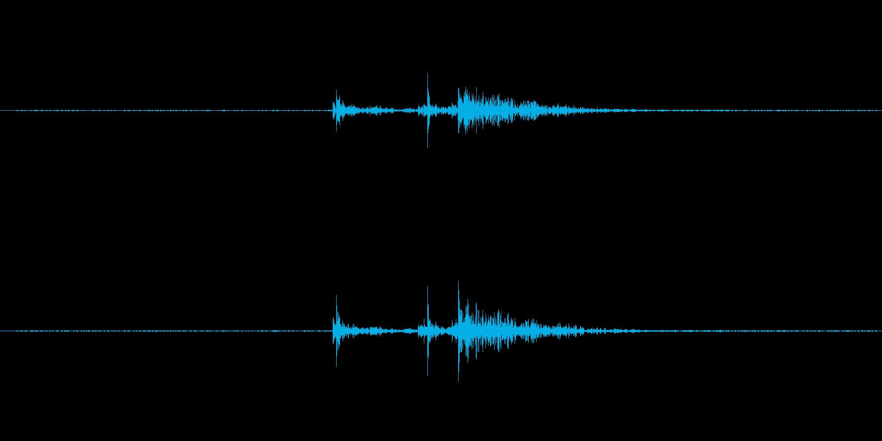 「ぼぼん」の再生済みの波形