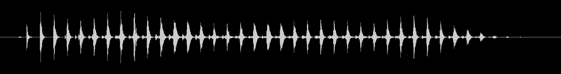 おかしなコミカルな効果音 パワーダウンの未再生の波形