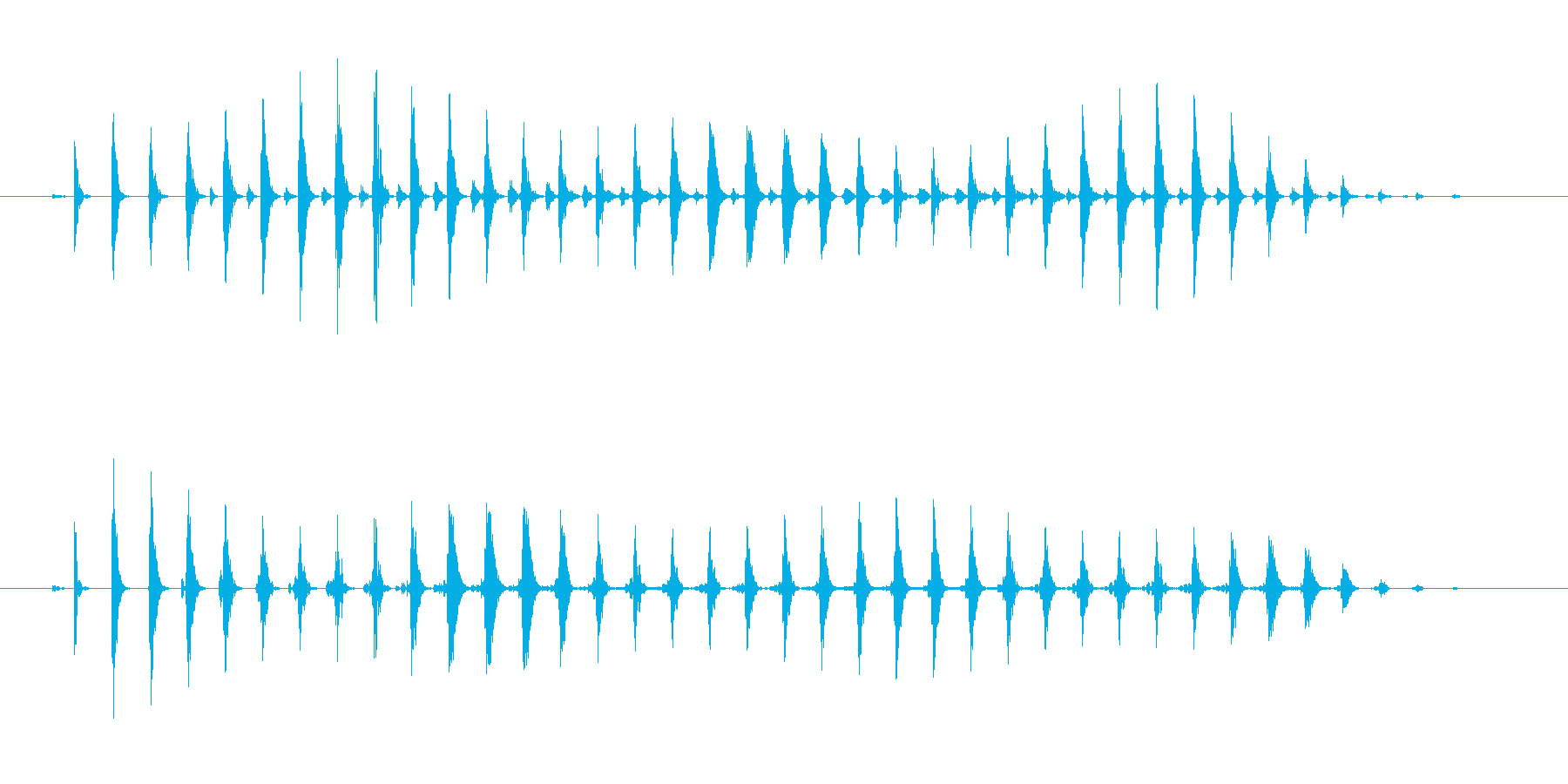 おかしなコミカルな効果音 パワーダウンの再生済みの波形