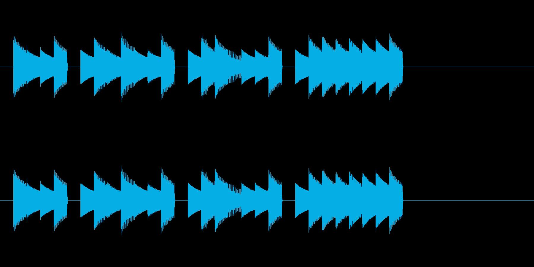 ゲームサウンドをイメージした短いジングルの再生済みの波形