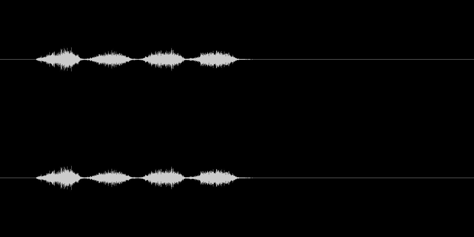 【消しゴム01-1(こする)】の未再生の波形