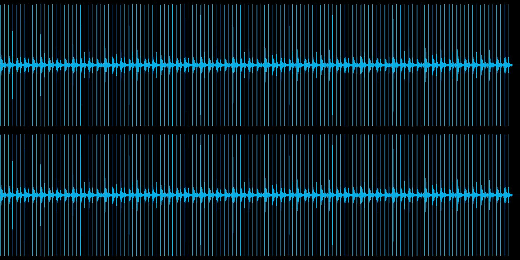 足音でカウントの再生済みの波形