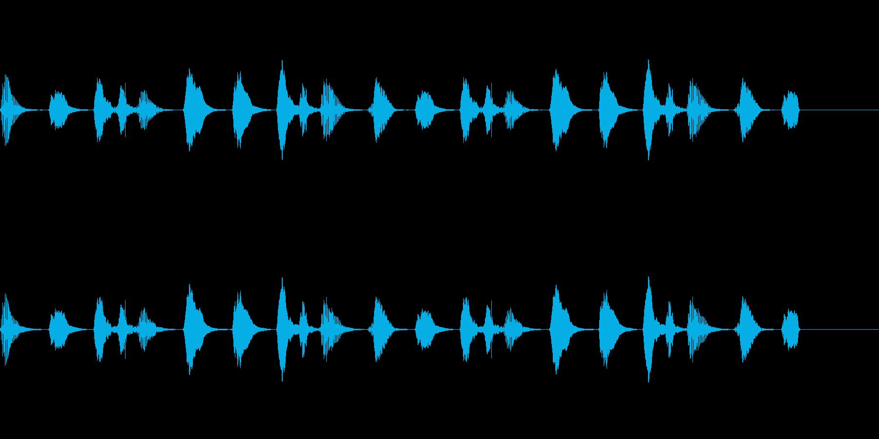 【SE 効果音】ラッパの再生済みの波形