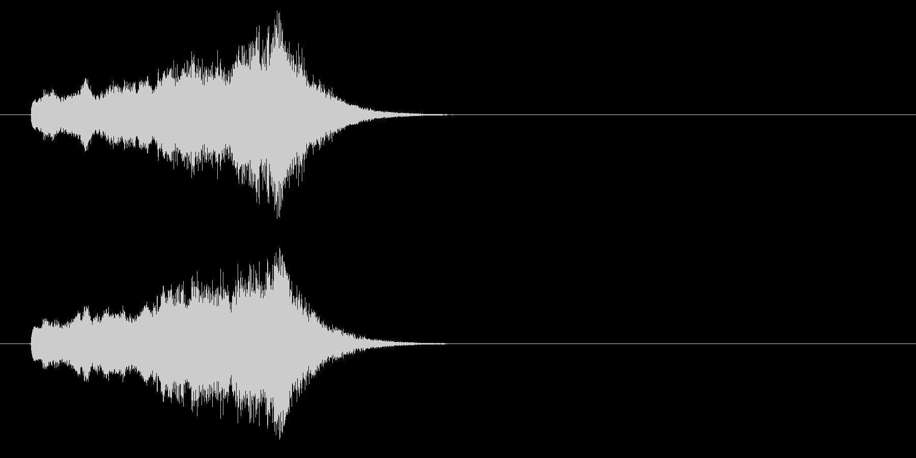 ジングル(CMに入る前)の未再生の波形