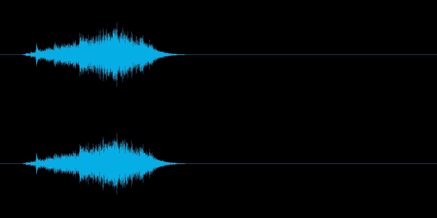 【カーテン01-2】の再生済みの波形
