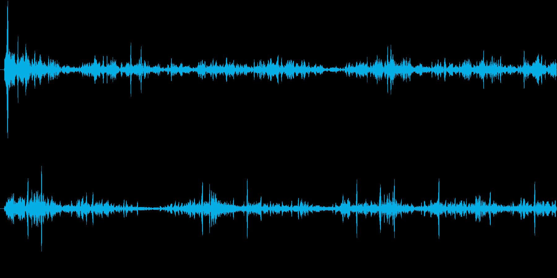 ブクブク(水の音)の再生済みの波形