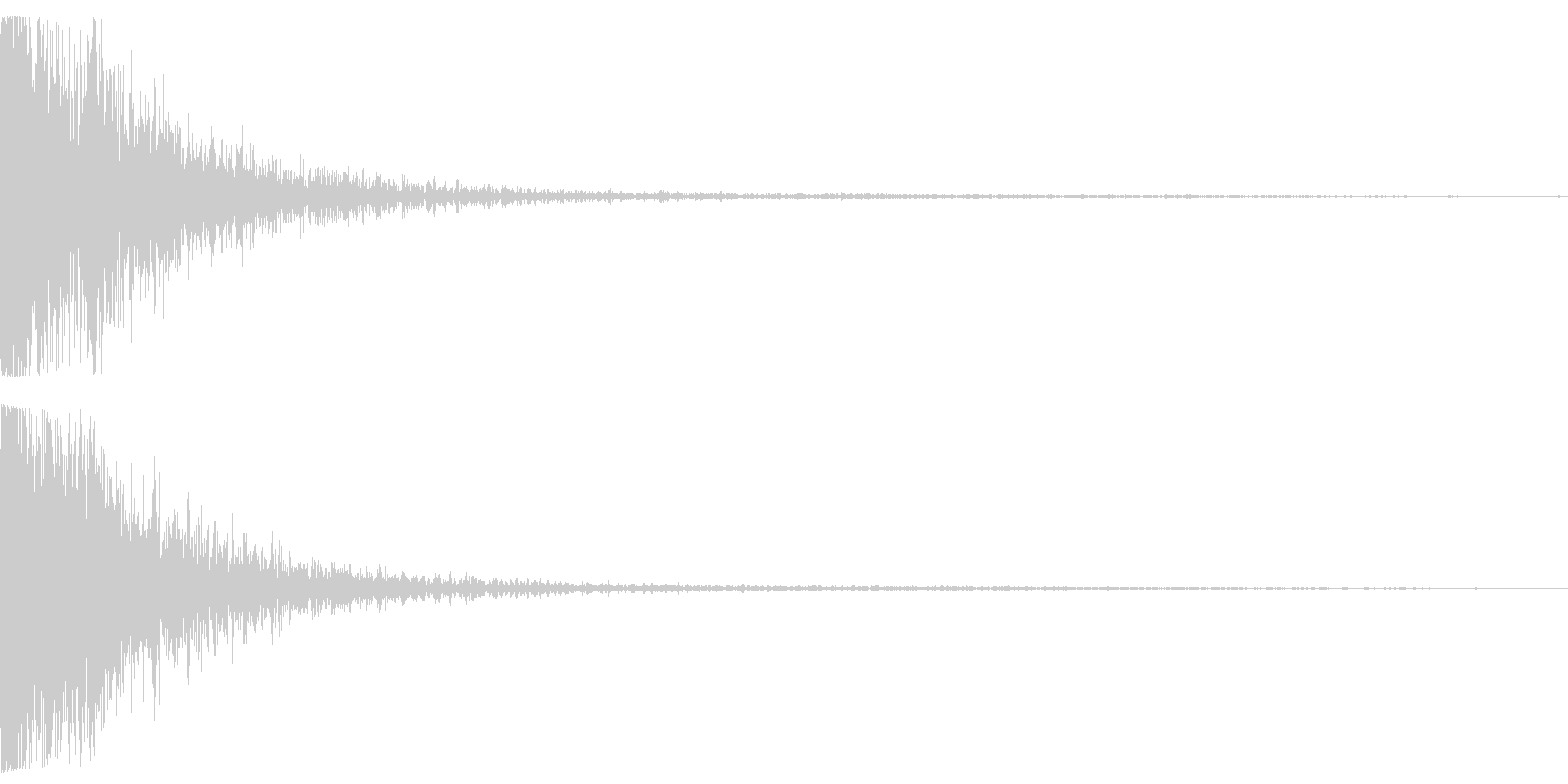 女性の悲鳴が入っているインパクト音の未再生の波形