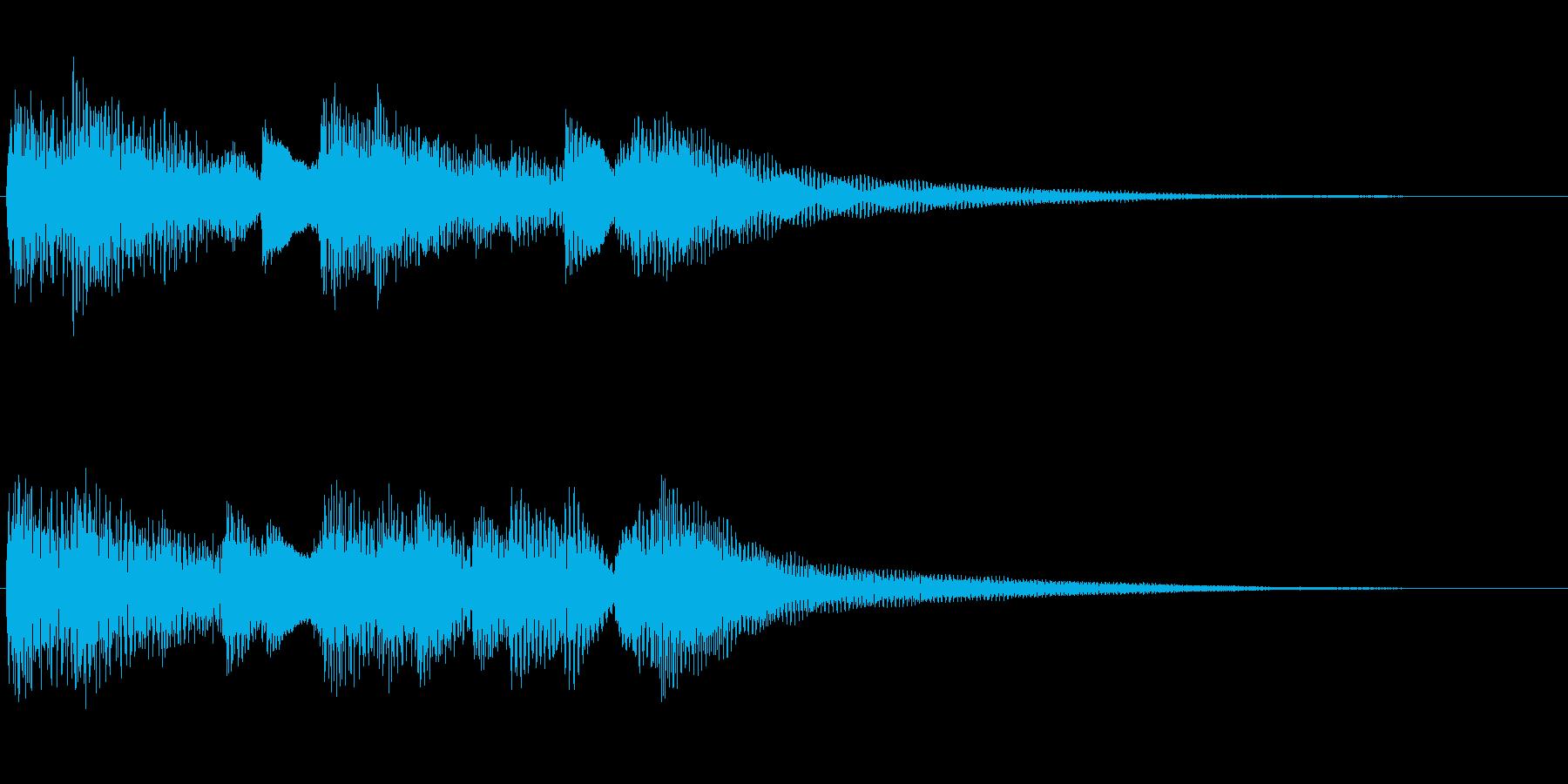 ピアノサウンドロゴの再生済みの波形