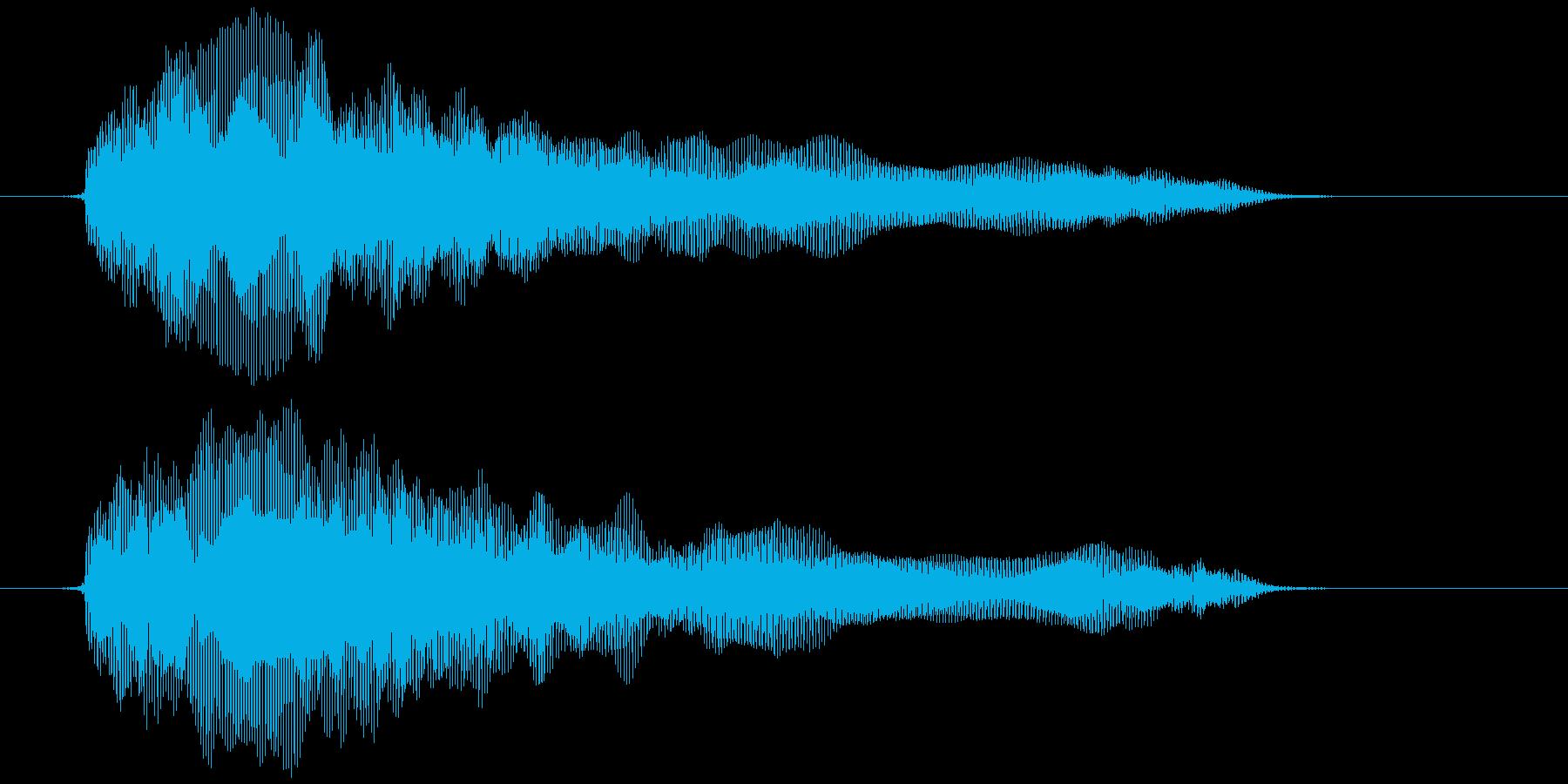 おもちゃの笛 (押す、潰す) プゥゥゥ~の再生済みの波形