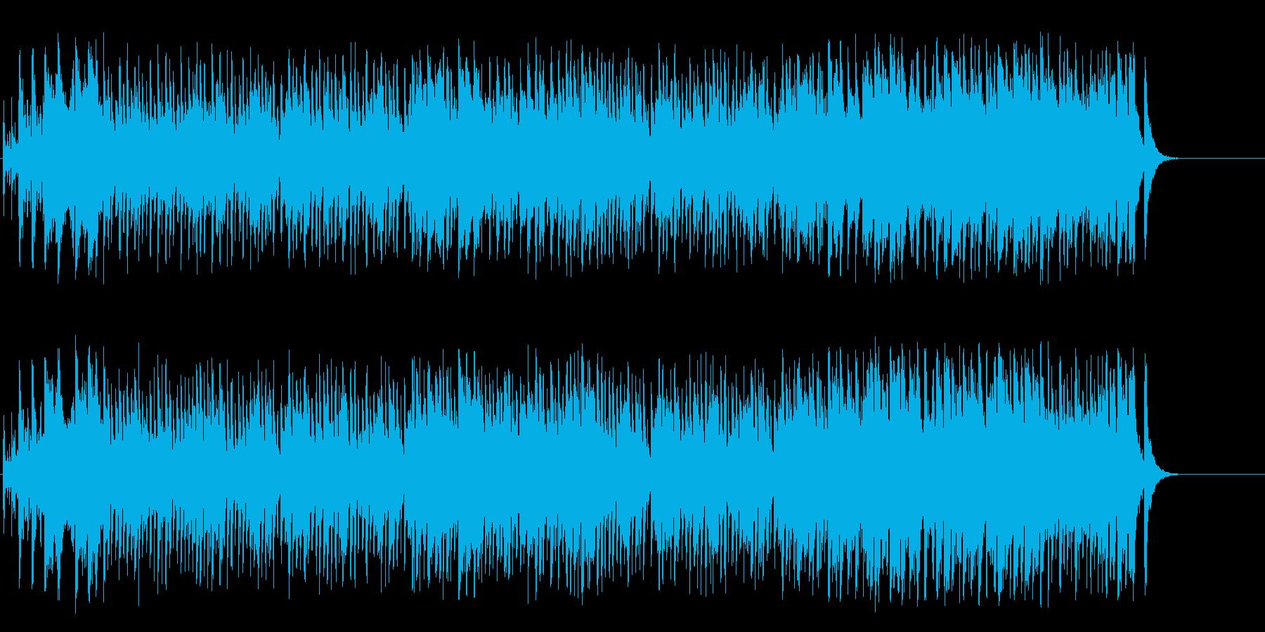 弾みをつける軽快なオープニングのポップの再生済みの波形