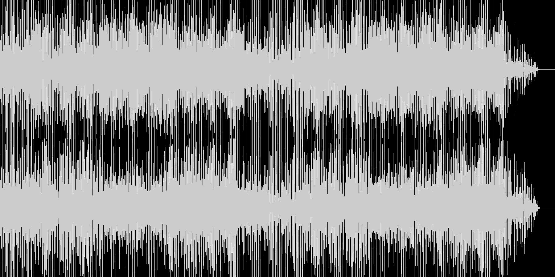 ちょっと不思議な感じのテクノ曲の未再生の波形