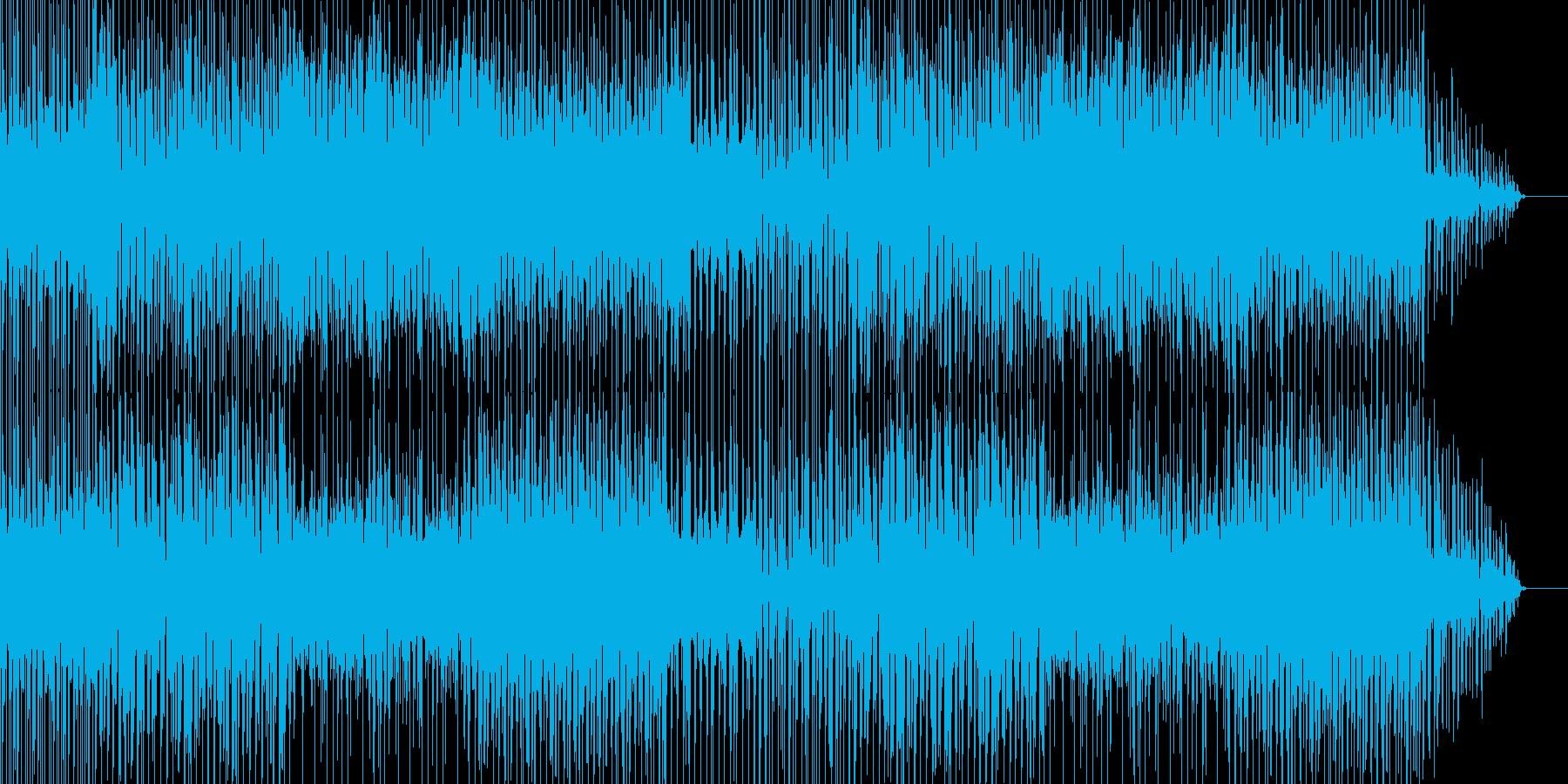 ちょっと不思議な感じのテクノ曲の再生済みの波形