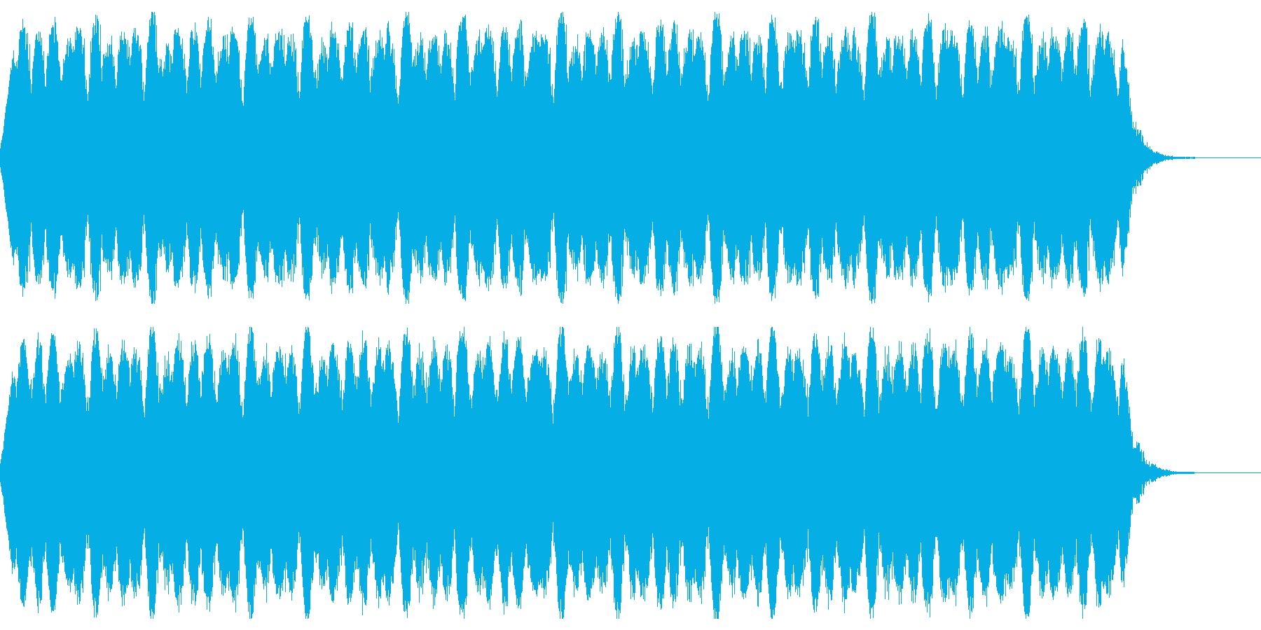 歪みの再生済みの波形