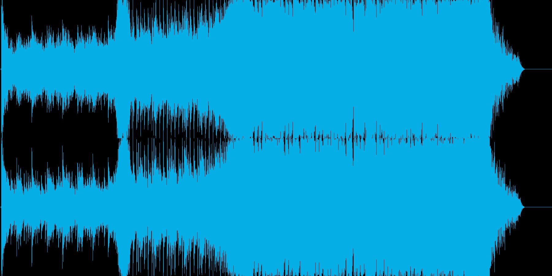 4つ打ち系インストの再生済みの波形