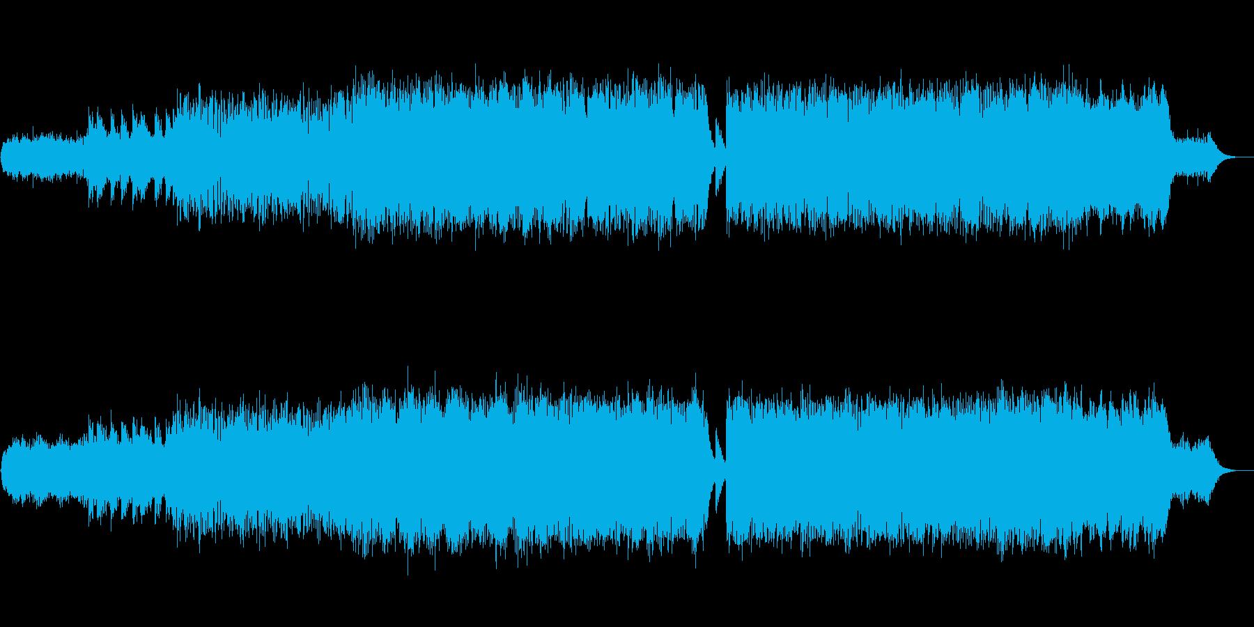 幻想的で哀愁感のあるエレクトロニカの再生済みの波形