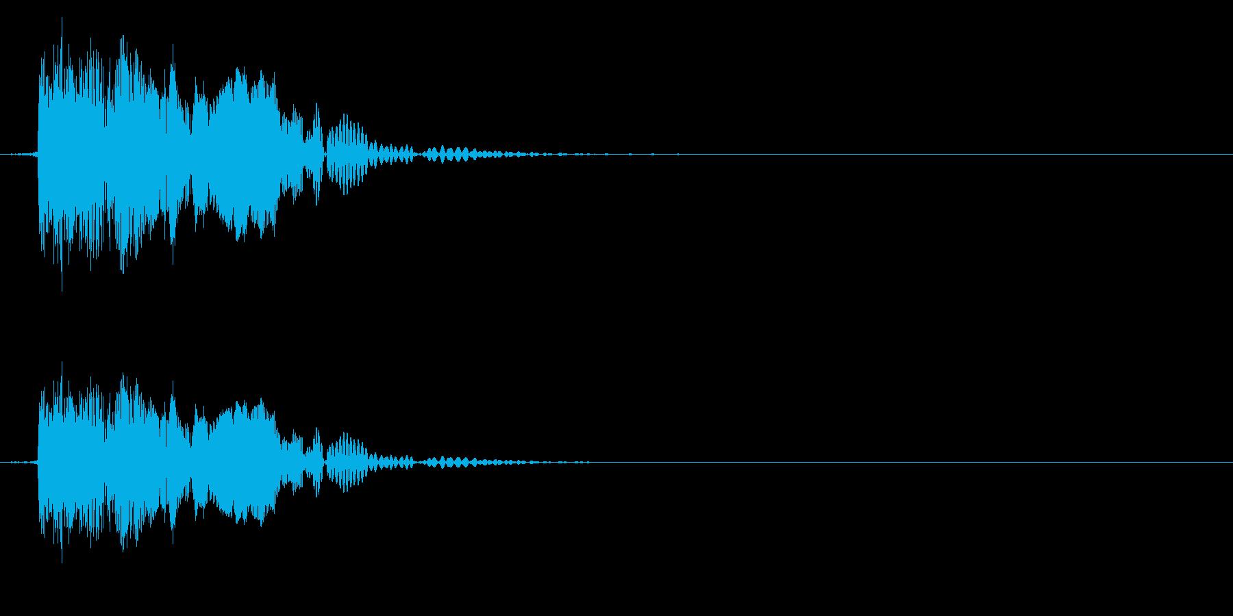 ピシュン(シューティング/消滅)の再生済みの波形