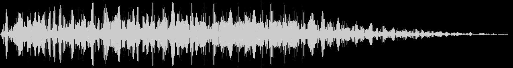 オアー(化猫 声の長い猫 移動)の未再生の波形