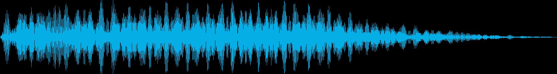 オアー(化猫 声の長い猫 移動)の再生済みの波形