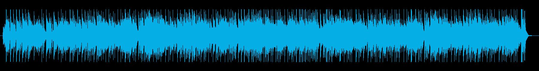 明るく温かみのある日常を感じる曲の再生済みの波形