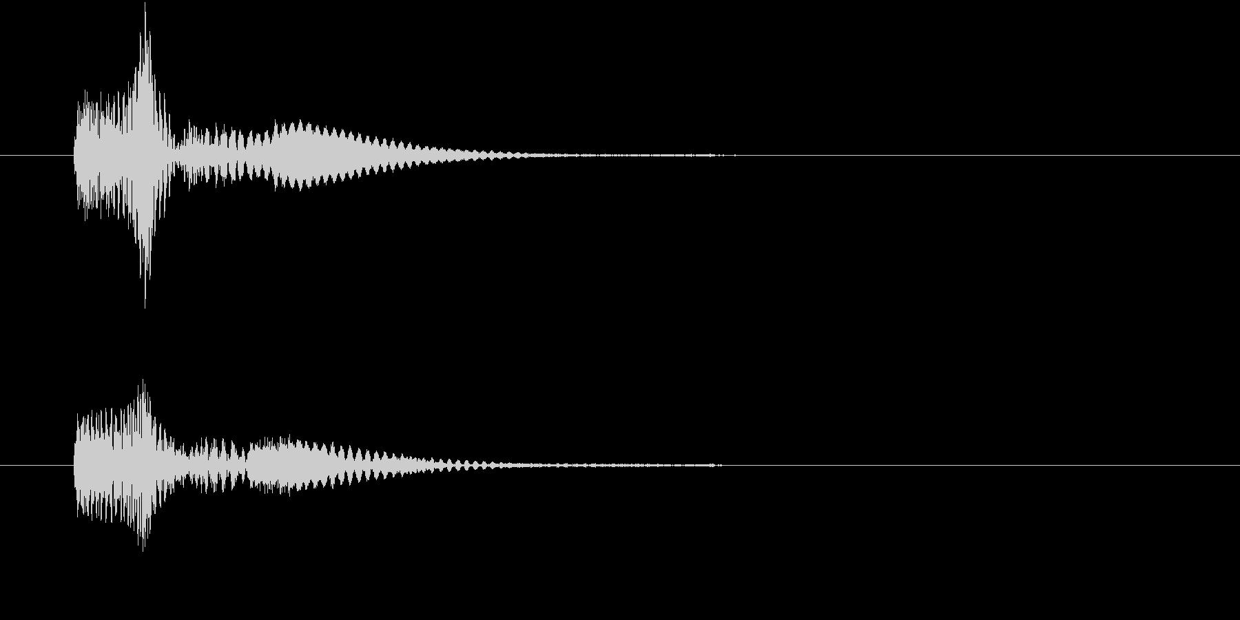 しゅうぃ~ん、という軽い音です。の未再生の波形