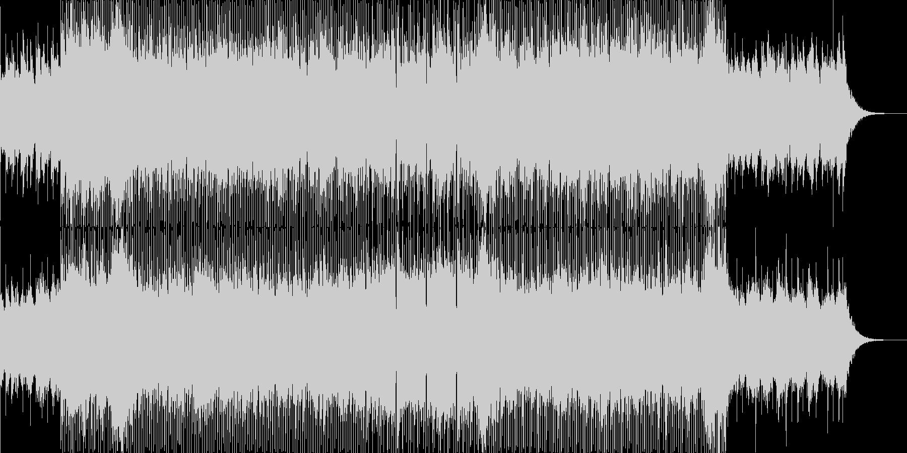緊張感のあるピアノロック曲の未再生の波形