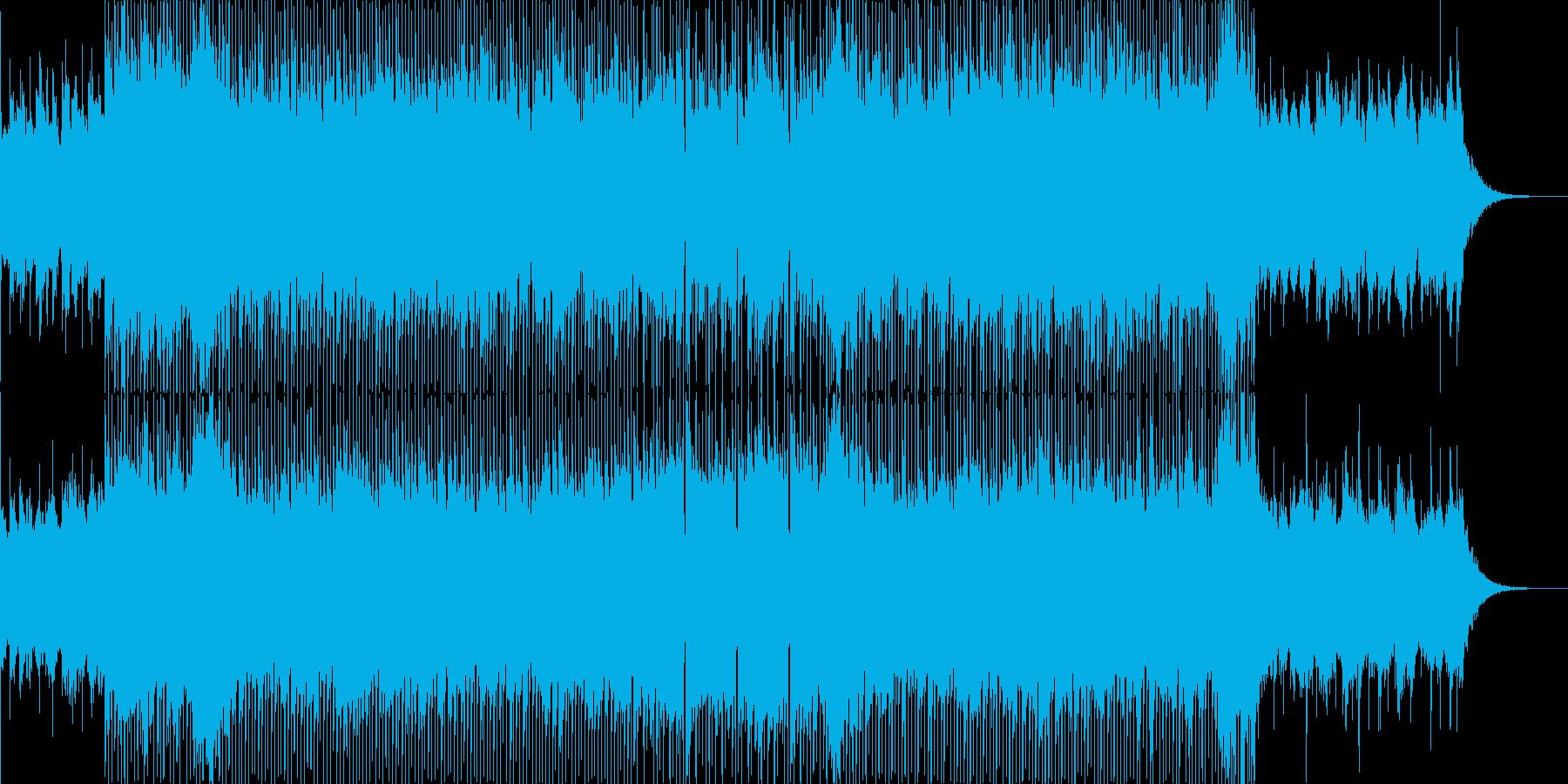 緊張感のあるピアノロック曲の再生済みの波形