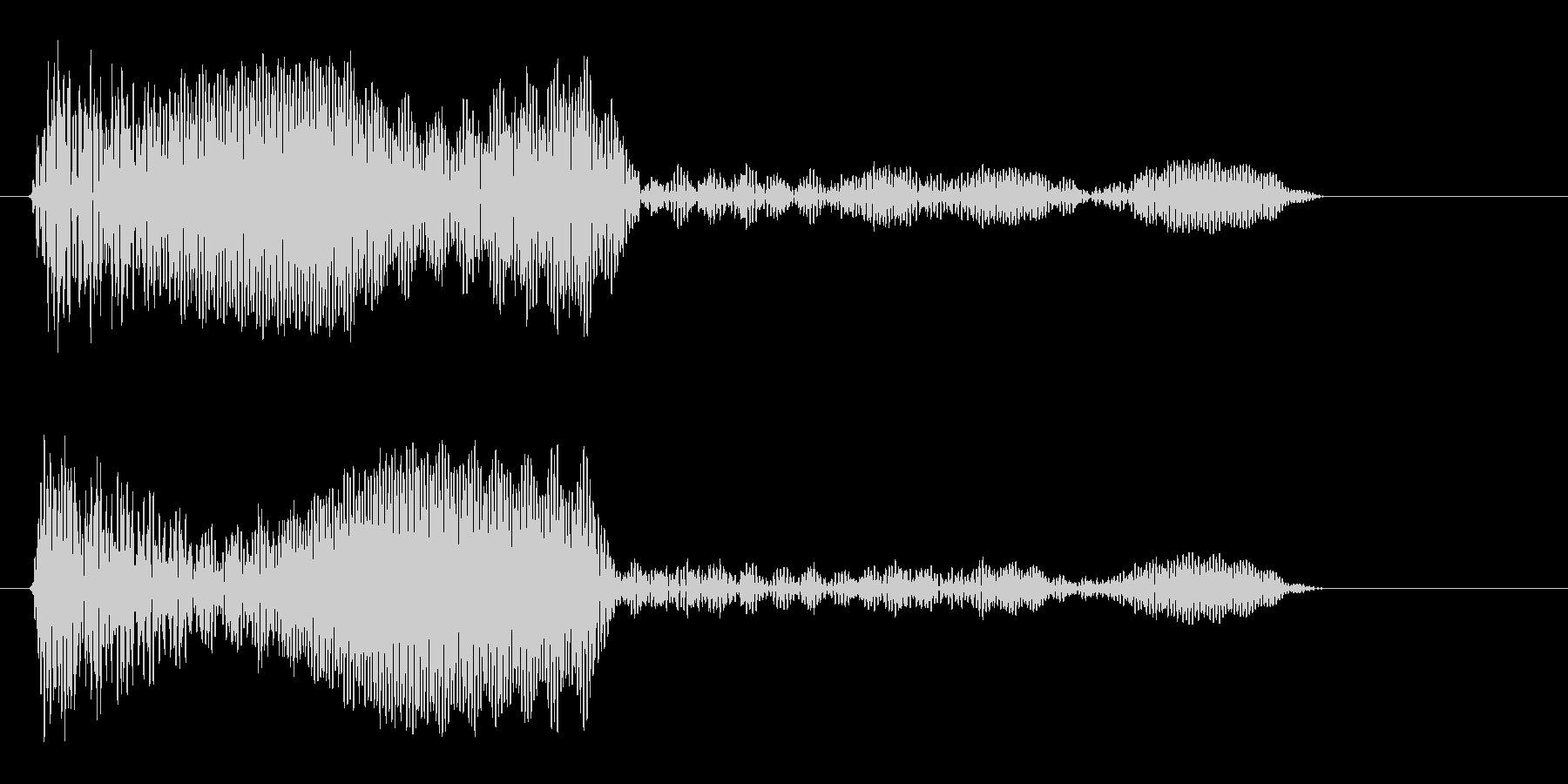 ブンッ (未来を感じさせる決定音)の未再生の波形