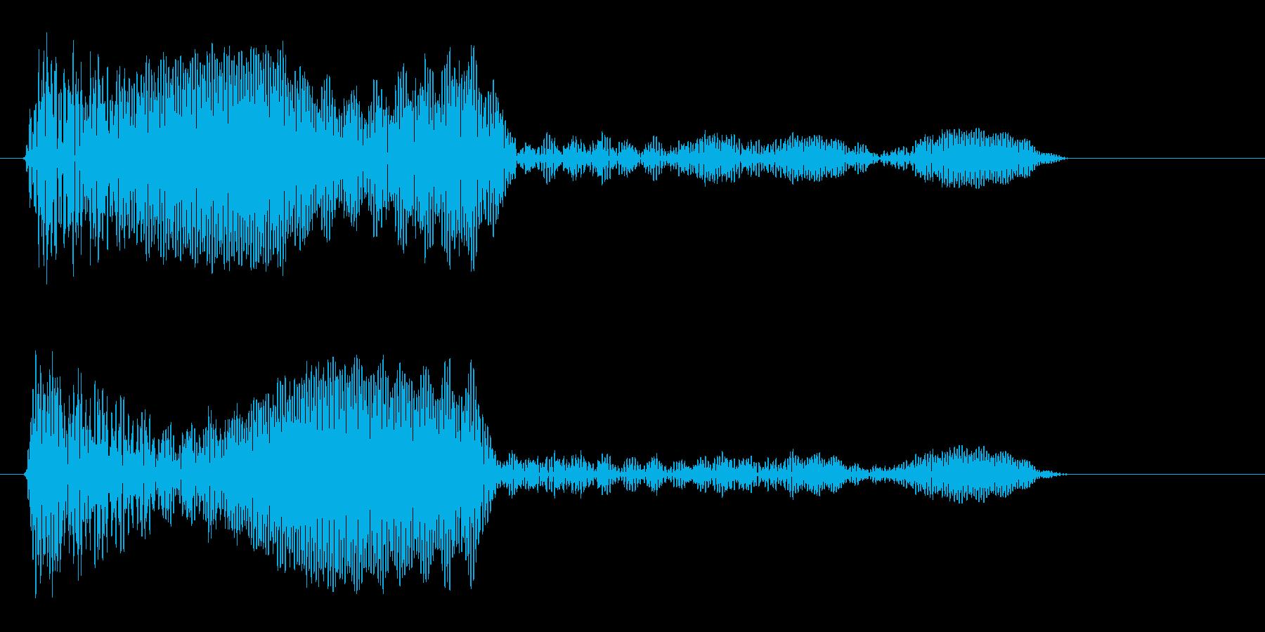 ブンッ (未来を感じさせる決定音)の再生済みの波形