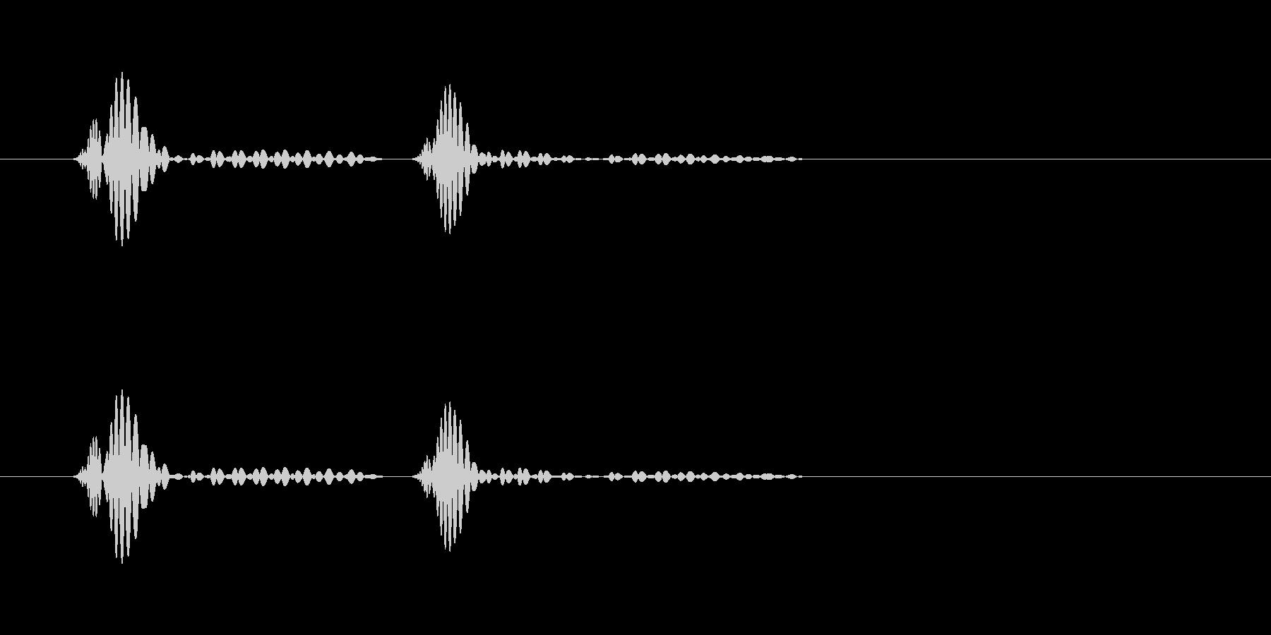 ドクン…という心臓の鼓動の音の未再生の波形
