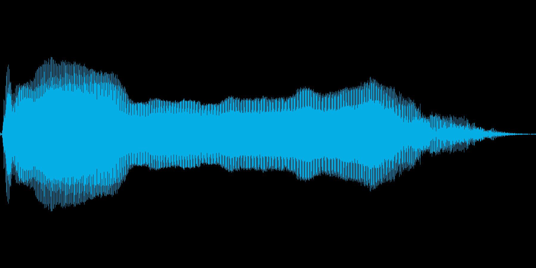 あああああ!【悲鳴、ダメージ、吹っ飛ぶ】の再生済みの波形