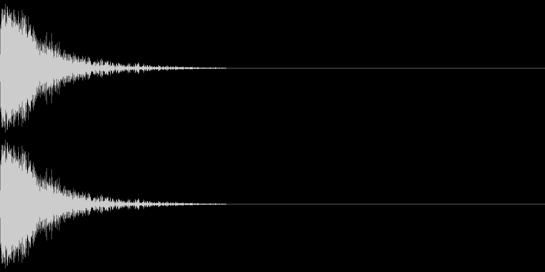 【SE】攻撃音01ヒット1発(ビシッ)の未再生の波形