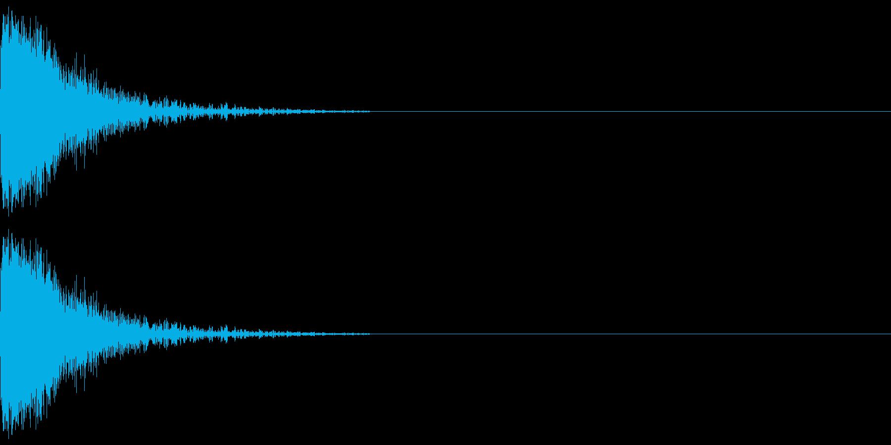 【SE】攻撃音01ヒット1発(ビシッ)の再生済みの波形