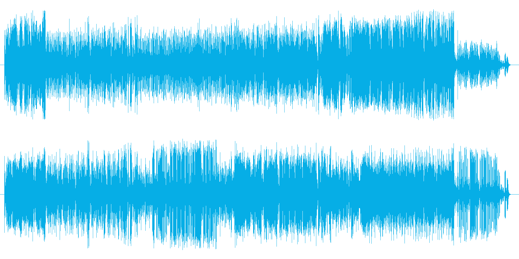 ボザノバ風味のラテン系とワルツを組み合…の再生済みの波形