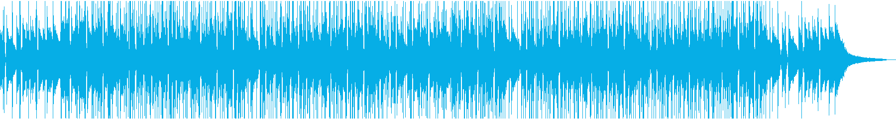 インストヒップホップっぽいお洒落なBGMの再生済みの波形
