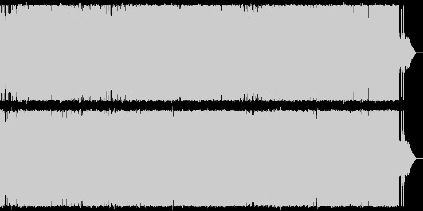 戦闘シーン向けメタル・ギターインストの未再生の波形