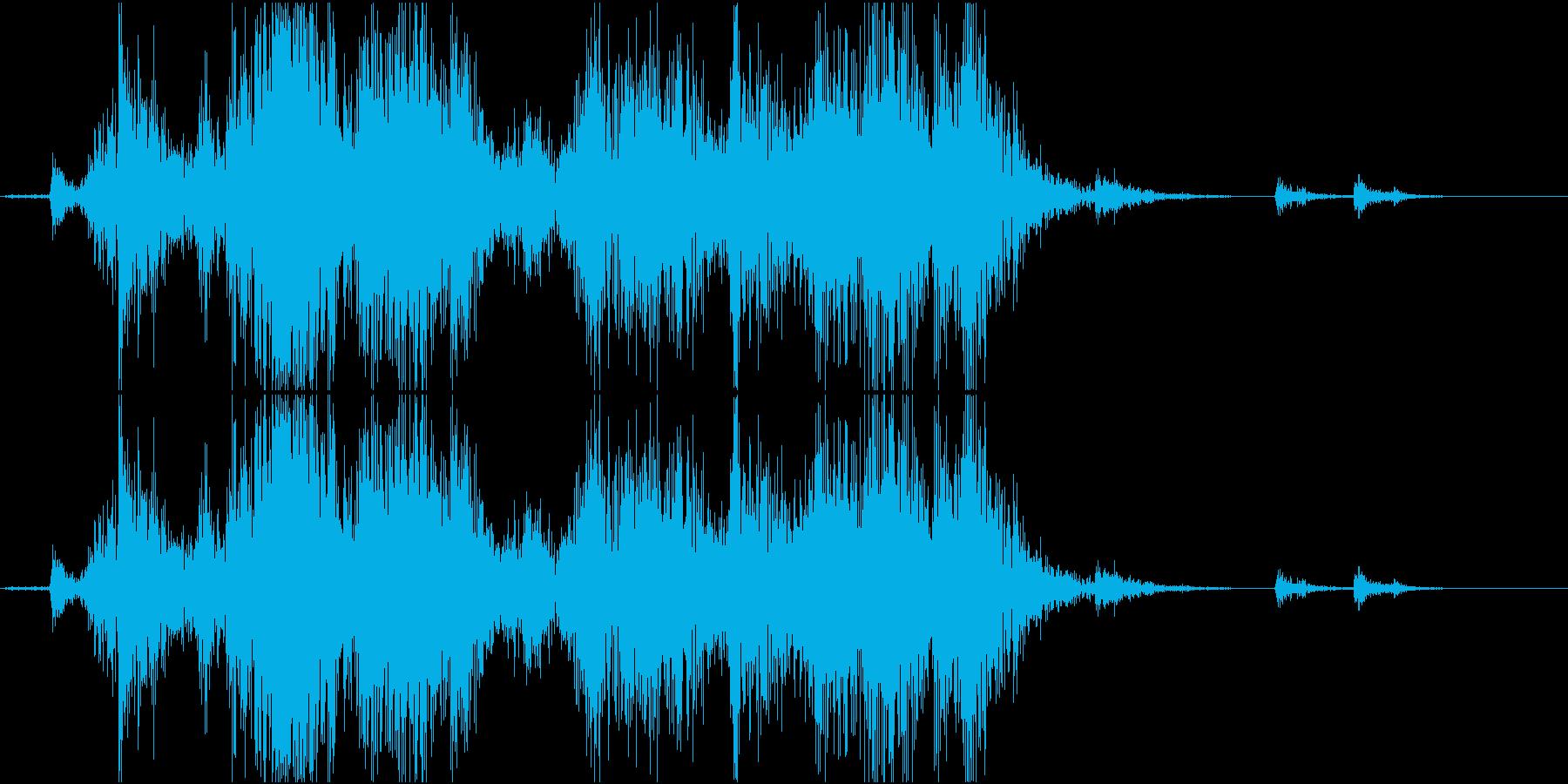 Material カトラリーボックスの音の再生済みの波形