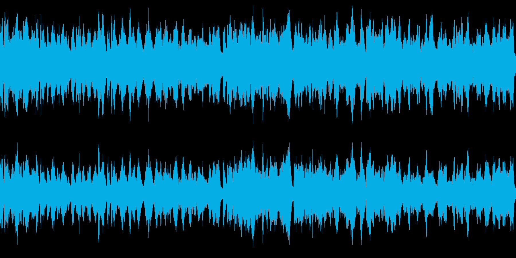平和なファンタジー村(環境音有版)の再生済みの波形