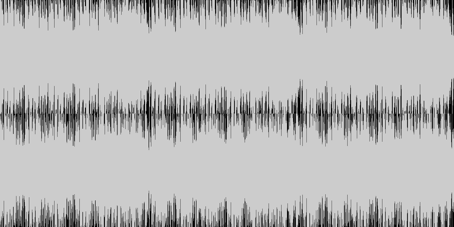 ほのぼのとしたデート用のBGMの未再生の波形