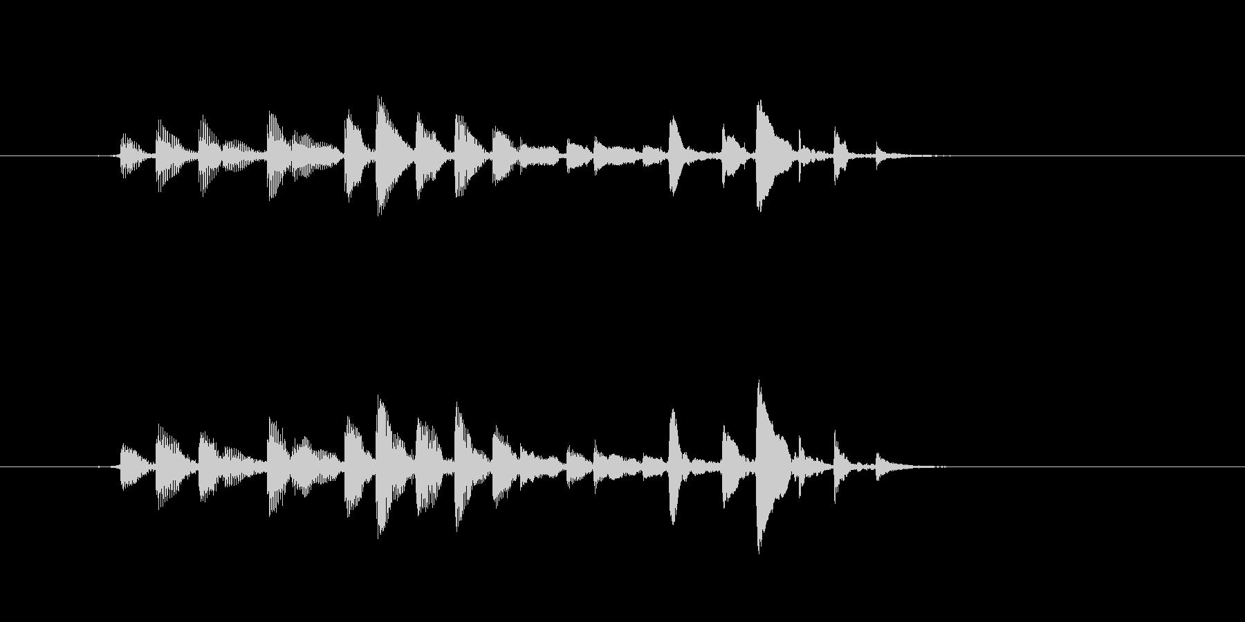 生音 三味線 チリチリ アップの未再生の波形