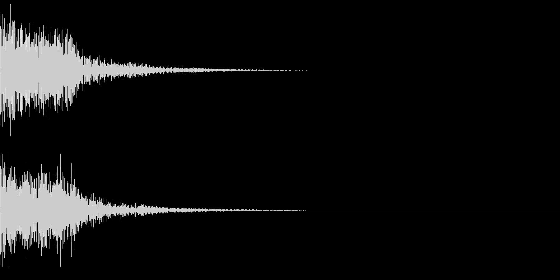 決定音50_シンセAGの未再生の波形