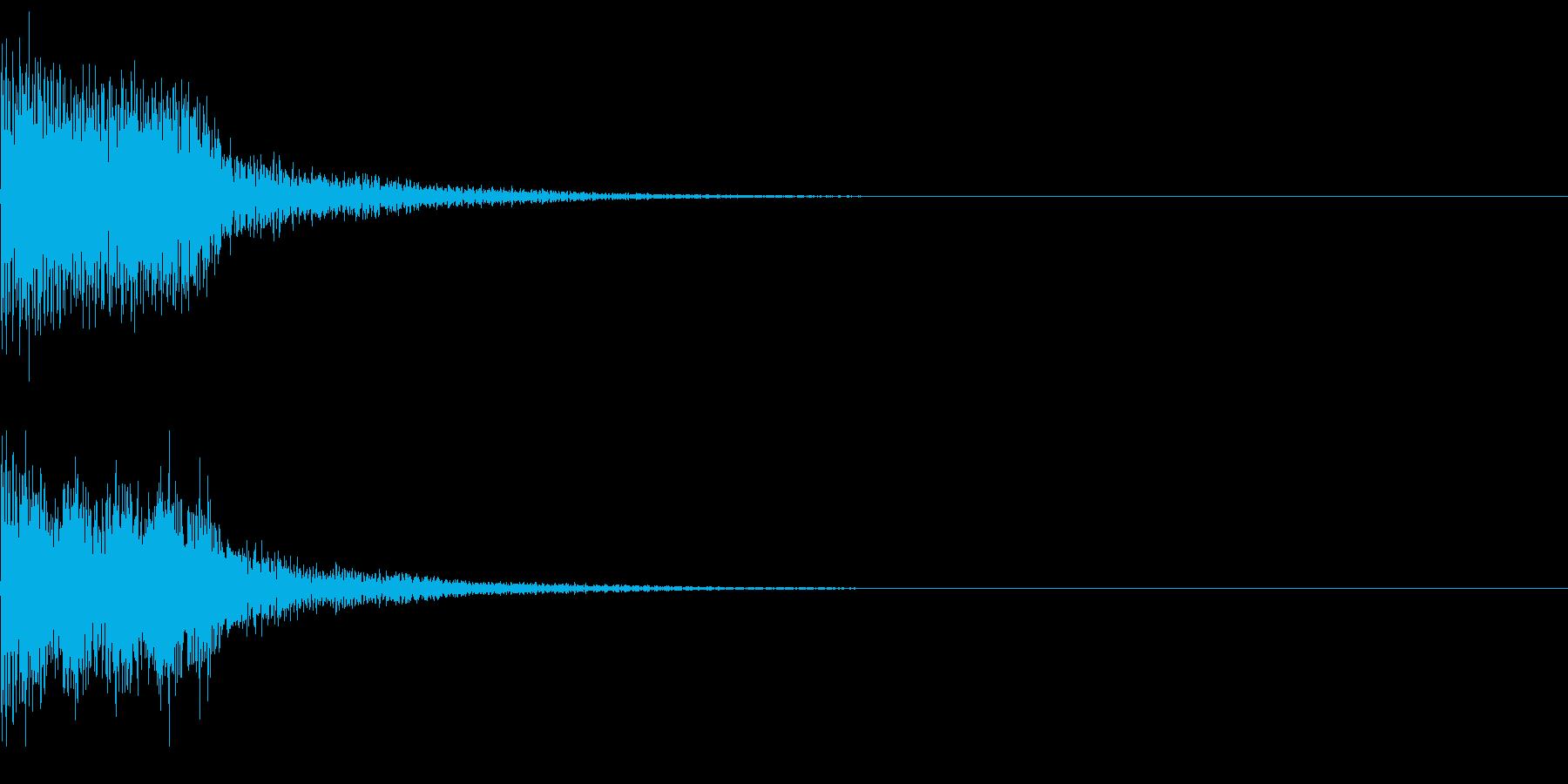 決定音50_シンセAGの再生済みの波形