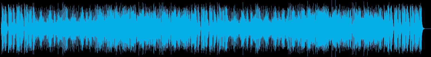 シンセサイザーの明るいポップスの再生済みの波形