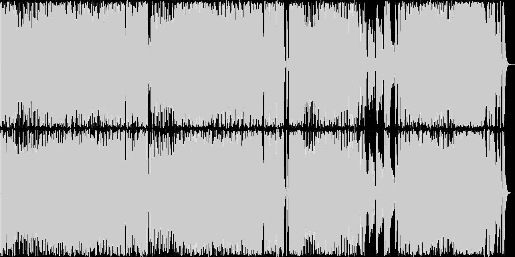 ベートーヴェンの交響曲第5のメタルの未再生の波形