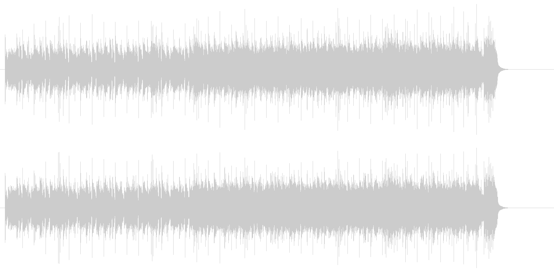エネルギッシュなシャッフルのギターロックの未再生の波形