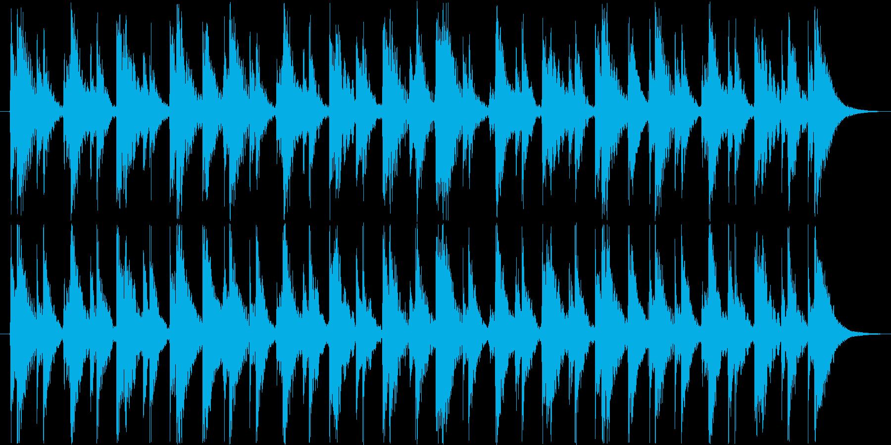 のんびり、可愛い雰囲気のジングルの再生済みの波形