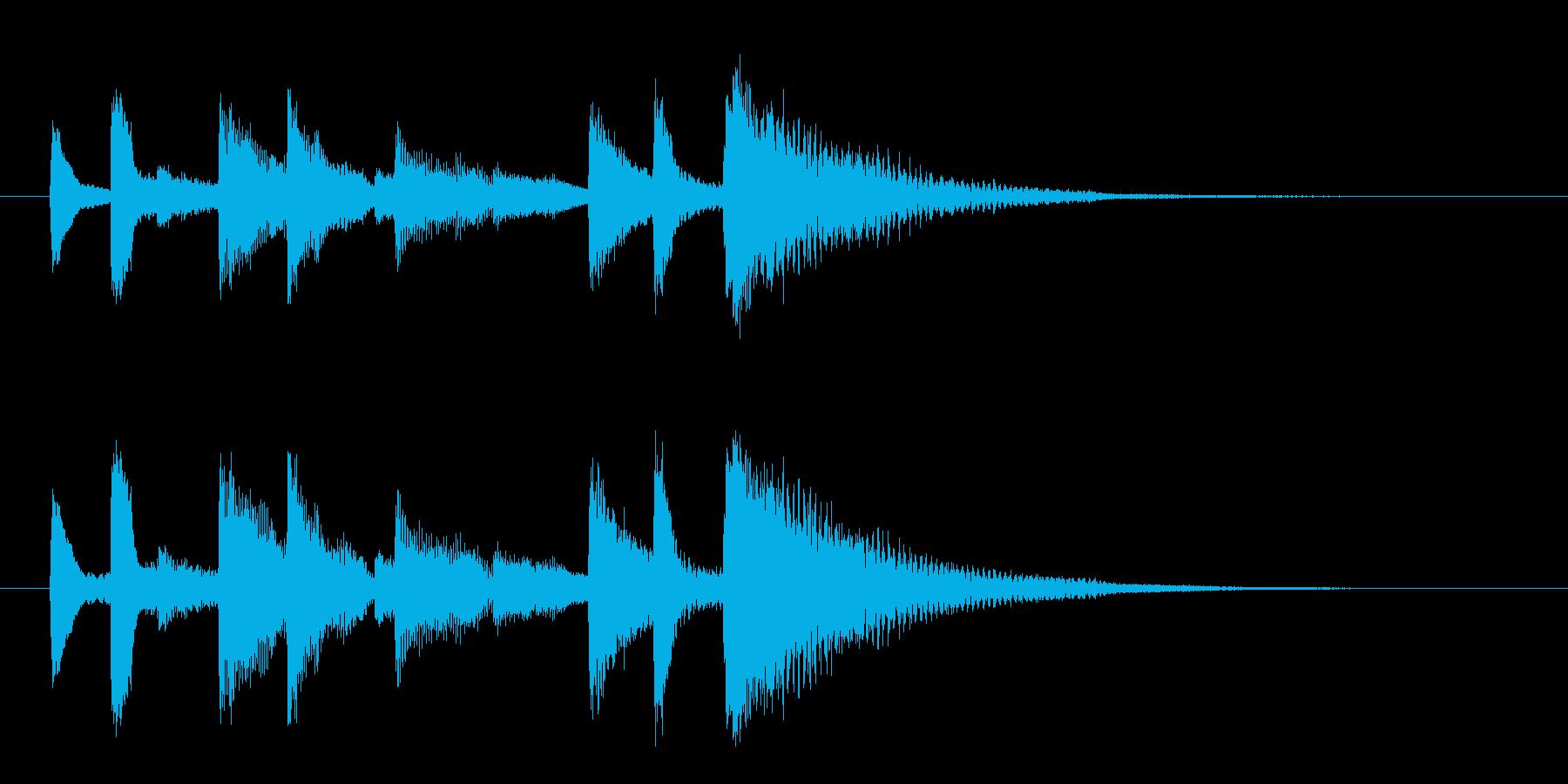 ポンポロン・・(怪しく不吉なピアノ)の再生済みの波形
