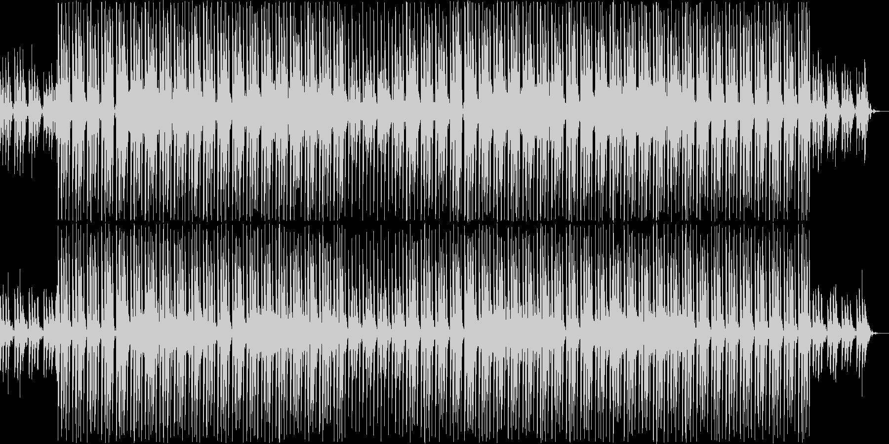 淡々としたEDMの未再生の波形