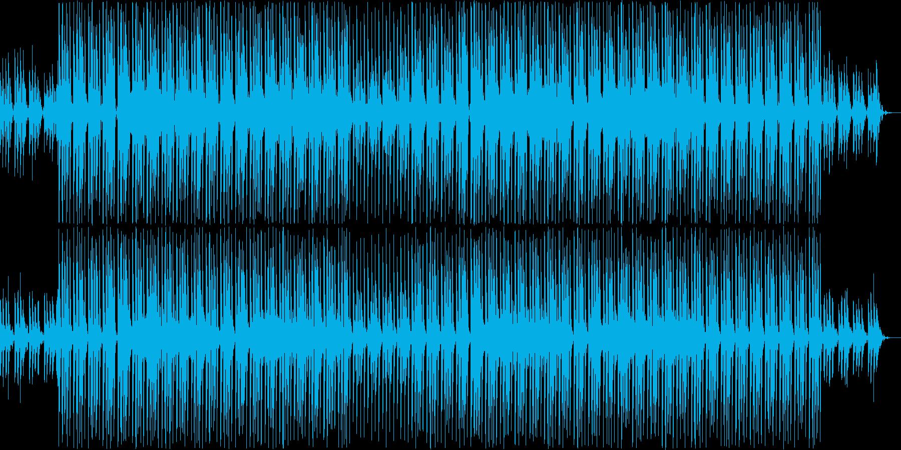 淡々としたEDMの再生済みの波形